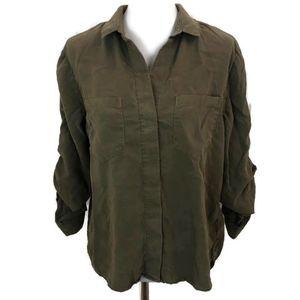 ANTHROPOLOGIE Cloth & Stone Women's Green Top